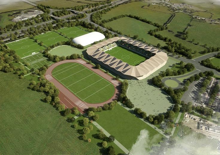 Forest Green Rovers Eco Park Stadium Gloucestershire Uk